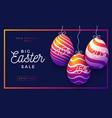easter egg sale horizontal banner frame vector image vector image