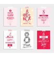 Eight march typographic design set Happy womens vector image vector image