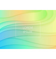 elegant volumetric 3d color curved paper cut art vector image