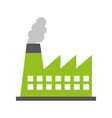 factory industry chimney icon vector image vector image