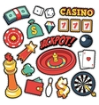 Gambling Casino Badges Patches Stickers vector image vector image