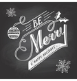 Hand-lettering Christmas greeting label on vector image vector image
