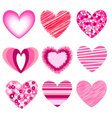 hearts valentines icons vector image vector image