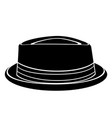 hipster hat silhouette vector image vector image