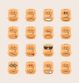 icon set of smiley faces emotions mood and vector image vector image