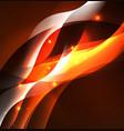 illuminated neon waves vector image