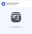 injury icon filled flat sign solid vector image vector image
