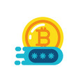 isolated bitcoin and code design vector image vector image