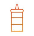 kitchen restaurant bottle sauce ingredient vector image