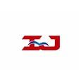 Letter iJ Logo vector image