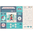 Lifestyle flat design Infographic Template vector image vector image