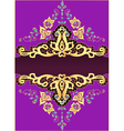 lilac background with gold ornament vector image vector image