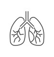 lungs related thin line icon vector image vector image
