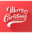 merry christmas text calligraphic vector image vector image