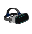 modern vr headset device vector image vector image