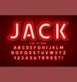 neon light 3d alphabet extra glowing modern type vector image vector image