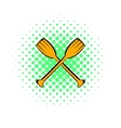 Paddle icon comics style vector image vector image