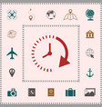 passage of time icon elements for your design vector image