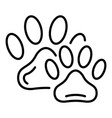 pet stamp icon outline style vector image