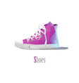polygonal of pink sneakers modern fashion icon vector image vector image