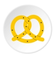 Pretzels icon flat style vector image vector image