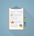 Report paper vector image vector image