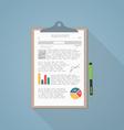 Report paper vector image