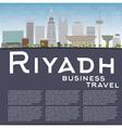 Riyadh skyline with grey buildings and blue sky vector image vector image