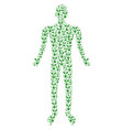 seed sprout human figure vector image
