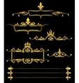 set golden royal frames and borders black vector image vector image