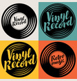 set music icons in form vinyl records vector image vector image