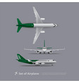 set of airplane isolated vector image vector image
