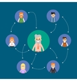 Social network and teamwork banner vector image vector image