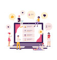 social network reviews and comments from customers vector image vector image