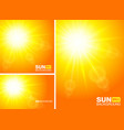 summer template banners sun rays backgrounds vector image vector image
