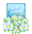 Summer with a bouquet of flowers vector image vector image