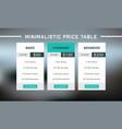 three tariffs for cloud service minimalistic web vector image vector image