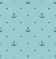 tile sailor pattern with blue anchor and polka dot vector image vector image