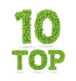 Top 10 text of green leaves vector image