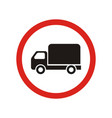 truck traffic is prohibited sign vector image vector image