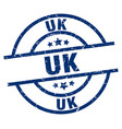 uk blue round grunge stamp vector image vector image