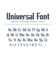 universal font for business headline text vector image vector image