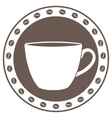 Vintage cup of coffee label vector image