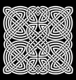 white and black celtic mandala background vector image vector image