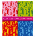 cocktails seamless patterns vector image