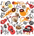 musical instruments - doodles set vector image