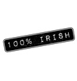 100 percent irish rubber stamp vector image vector image
