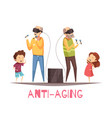 anti aging design concept vector image vector image
