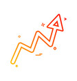 arrow graph progress up icon design vector image vector image