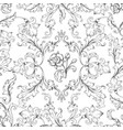 baroque ornament pattern decorative floral border vector image